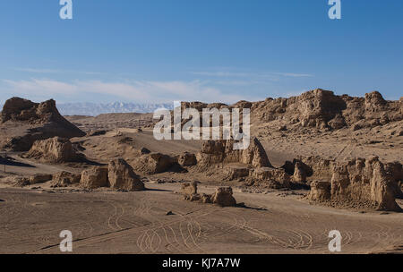 Yardan landscape II, China - Stock Photo
