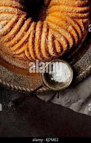 Pumpkin Bundt Cake - Stock Photo
