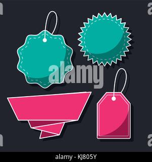 Shopping label tags - Stock Photo
