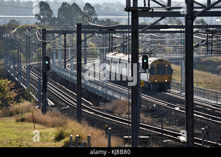 An Australian Electric Train on its Run - Stock Photo