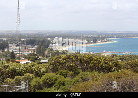 Port and town of Esperance, South Western Australia, on a hot cloudy summer morning  which is a popular tourist - Stock Photo