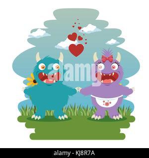 funny dragon cartoon - Stock Photo