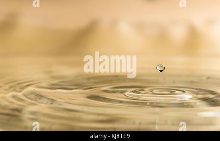 Water drops close up. Macro shot drops - Stock Photo