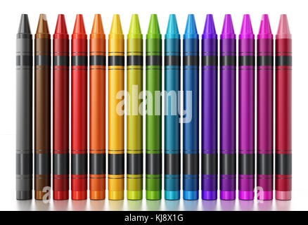 collection of rainbow colored pastel crayons with pigment dust on