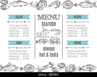 vector illustration of restaurant menu - Stock Photo