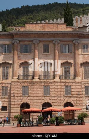 Piazza della Signoria, Gubbio, Umbria, Italy - Stock Photo