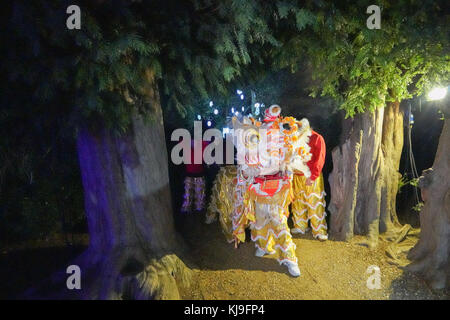 Chiswick, London, UK. 23rd Nov, 2017. Scenes from the Magical Lantern Festival at London's historic Chiswick House - Stock Photo