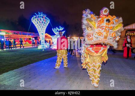 London, UK. 23rd Nov, 2017. Magical Lantern Festival - a Christmas lights experience in Chiswick House Gardens from - Stock Photo
