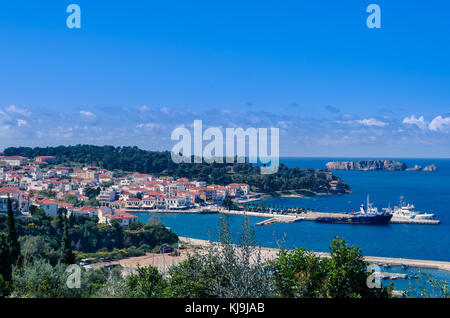 Pylos, the picturesque and peaceful town of the Messinia prefecture located in southwestern part of Greece at the - Stock Photo