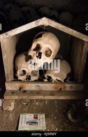 Naples. Italy. Cimitero delle Fontanelle cemetery. - Stock Photo