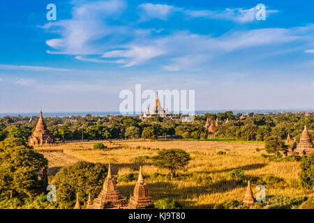 Pagodas of Old Bagan, Myanmar - Stock Photo