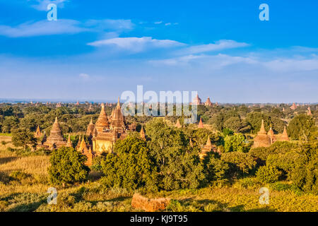 Pagodas of Old Bagan, Myanmar - Stock Photo