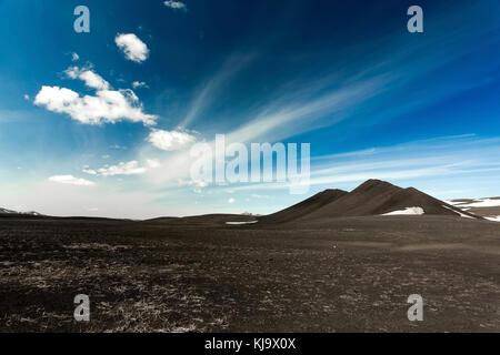 Lunar landscape in Iceland - Stock Photo