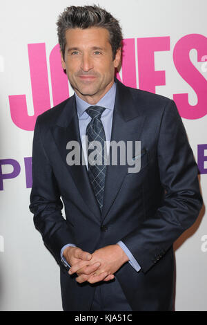 NEW YORK, NY - SEPTEMBER 12: Patrick Dempsey attends the 'Bridget Jones' Baby' New York premiere at The Paris Theatre - Stock Photo