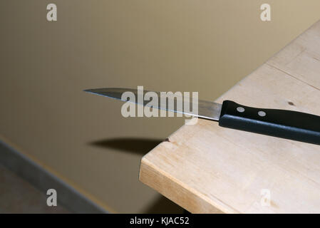 kitchen knife on table - Stock Photo