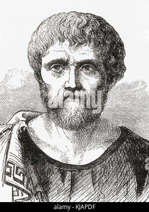 Seneca the Younger, c. 4 BC – AD 65, fully Lucius Annaeus Seneca and aka Seneca.   Roman Stoic philosopher, statesman, - Stock Photo