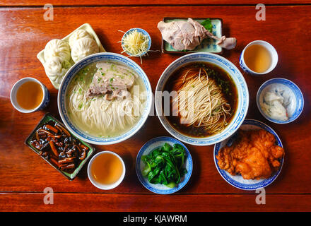 Famous noodles in Suzhou, Jiangsu Province, China, have many flavors. - Stock Photo