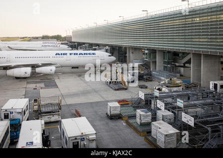 the f gates at charles de gaulle airport in paris roissy france stock photo royalty free image. Black Bedroom Furniture Sets. Home Design Ideas