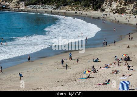 Laguna Beach, California. Beach scene on the Pacific ocean. - Stock Photo