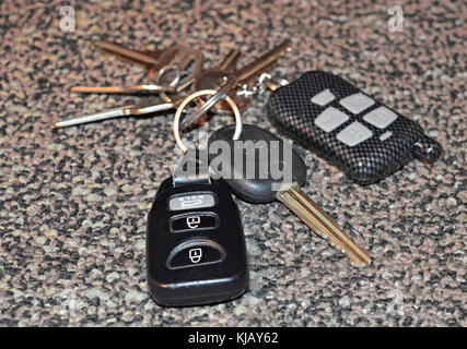 Keyless car starter and remote entry - Stock Photo