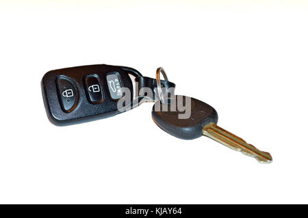 Start your engines, key and key FOB for keyless car entry - Stock Photo