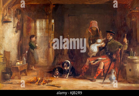 The Highland Family, Sir David Wilkie, 1824, Metropolitan Museum of Art, Manhattan, New York City, USA, North America - Stock Photo