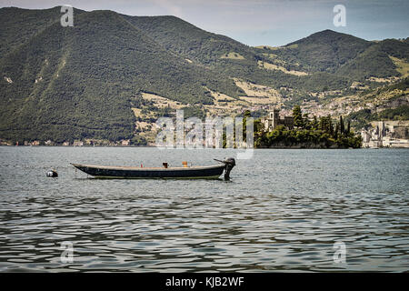 The Iseo lake in Italy - Stock Photo