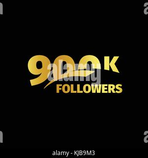 Stylish strict design, number of subscribers in social networks, the anniversary vector illustration set. My followers - Stock Photo