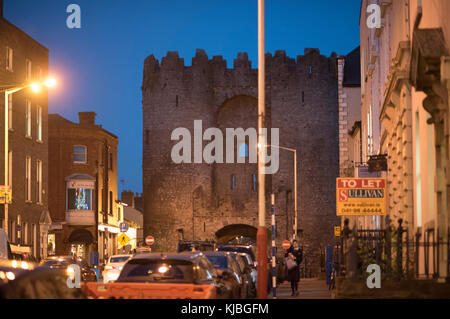 Saint Laurence Gate in Drogheda, Ireland - Stock Photo