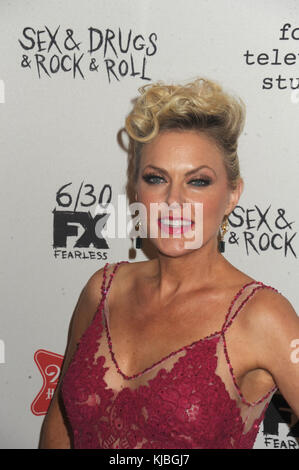 NEW YORK, NY - JUNE 28:  Elaine Hendrix attends 'Sex&Drugs&Rock&Roll' Season 2 Premiere at AMC Loews 34th Street - Stock Photo