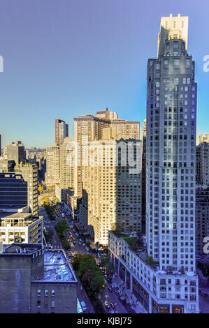 New York City - November 8, 2015: Aerial view of residential skyscrapers in New York City, New York by Columbus - Stock Photo