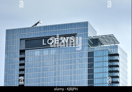 Chicago, Illinois - September 5, 2015: Top of the Luxury Downtown Chicago Hotel. - Stock Photo