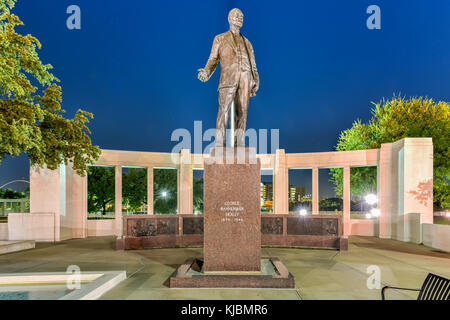 George Bannerman Dealey Monument in Dealey Plaza, Dallas, Texas. - Stock Photo
