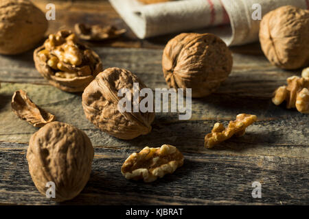 Raw Brown Organic Walnuts Ready to Eat - Stock Photo