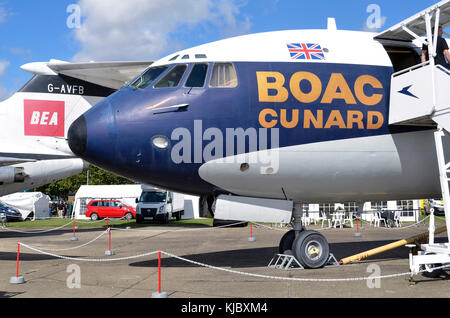 Vickers VC10, BOAC Cunard, Duxford, UK. Vickers Super VC10 Type 1151 flew with British Overseas Airways Corporation - Stock Photo