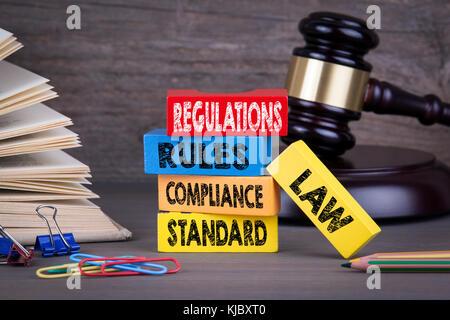regulations-concept-wooden-gavel-and-books-in-background-kjbxt0 jpg