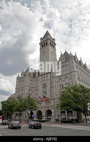 The Trump International Hotel on Pennsylvania Ave NW, Washington DC, United States.  It was formerly the Old Post - Stock Photo