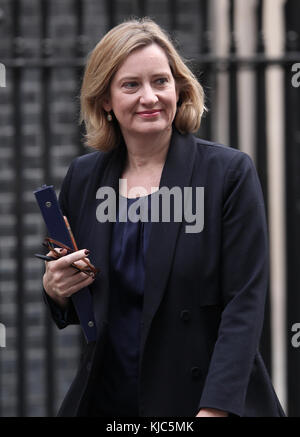London, UK. 22nd November, 2017. Amber Rudd Home Secretary seen in Downing Street on Budget Day in London - Stock Photo