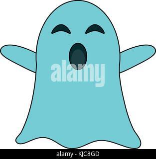 funny ghost cartoon illustration Stock Photo Royalty Free Image