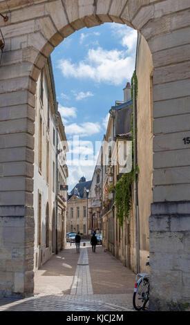Rue du Palais off the Place de la Liberation, Dijon, Cote-d'Or, Burgundy, France - Stock Photo