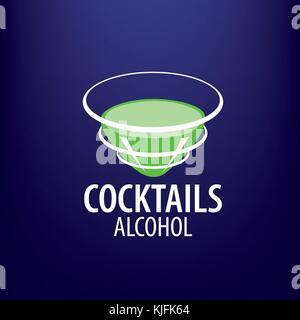 alcoholic cocktails logo - Stock Photo