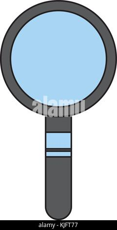 magnifier search technology tool element find - Stock Photo