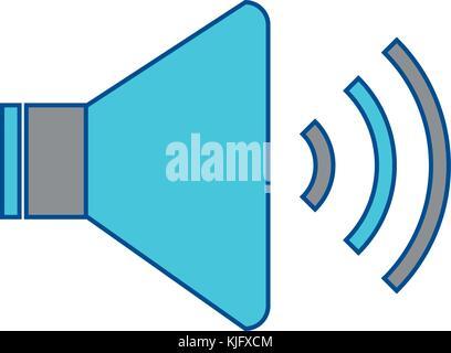 speaker sound on icon image  - Stock Photo