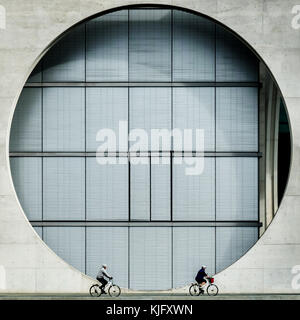 Germany, Berlin - September 16, 2017. The Marie Elisabeth Lüders Haus is part of the parliamentary complex in the new government quarter of Berlin.