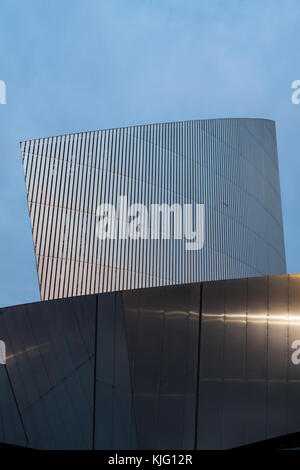 Abstract View of the Imperial War Museum North in the early evening. - Stock Photo