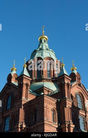 Uspenski Cathedral - Helsinki, Finland. - Stock Photo