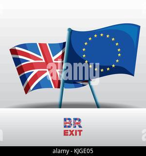 Brexit design concept - Stock Photo