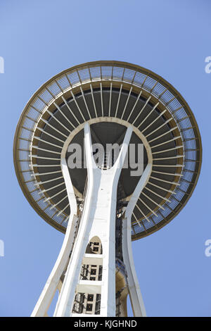 Space Needle from Below - Stock Photo