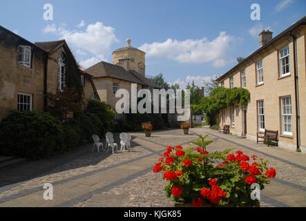 Oxford, United Kingdom - August 8, 2015: Lankester Quad and Radcliffe Observatory at Green Templeton College - Stock Photo