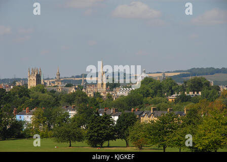 View of Oxford from South Park in summer - Stock Photo